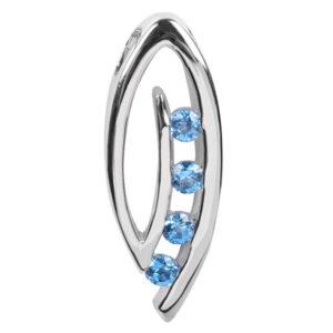 Silver Cat Stříbrný přívěsek s modrými krystaly SC137