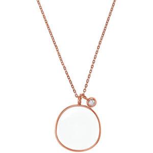 Skagen Bronzový náhrdelník s přívěskem SKJ0567791